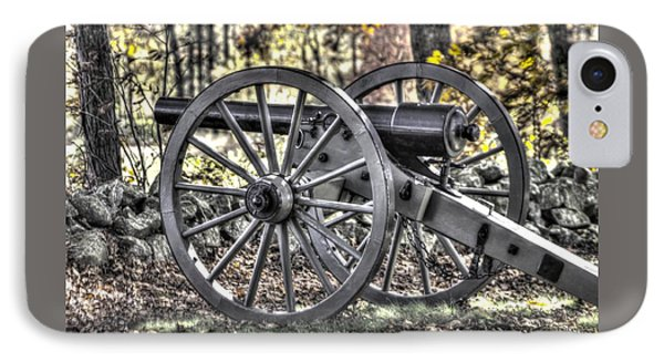IPhone Case featuring the photograph War Thunder - The Albemarle Va Artillery Wyatt's Battery-b1 West Confederate Ave Gettysburg by Michael Mazaika