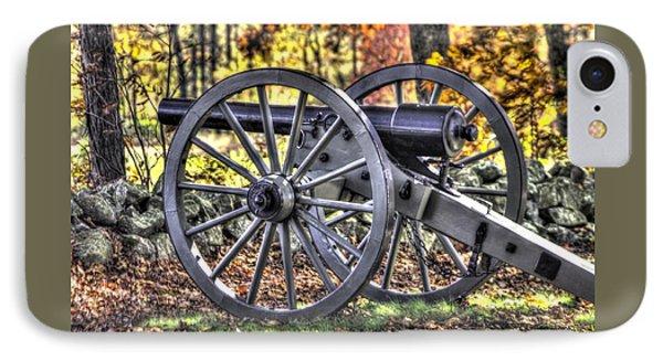 IPhone Case featuring the photograph War Thunder - The Albemarle Va Artillery Wyatt's Battery-b2 West Confederate Ave Gettysburg by Michael Mazaika