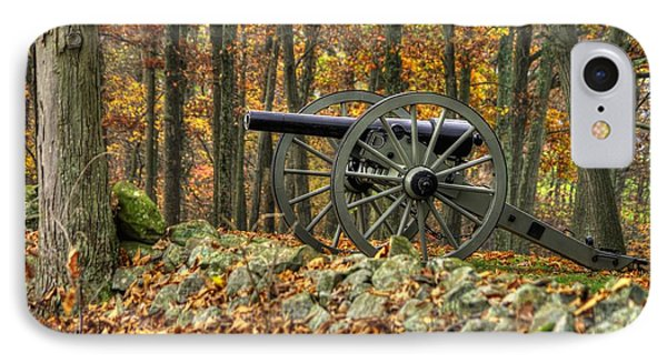 IPhone Case featuring the photograph War Thunder - The Albemarle Va Artillery Wyatt's Battery West Confederate Ave Gettysburg by Michael Mazaika