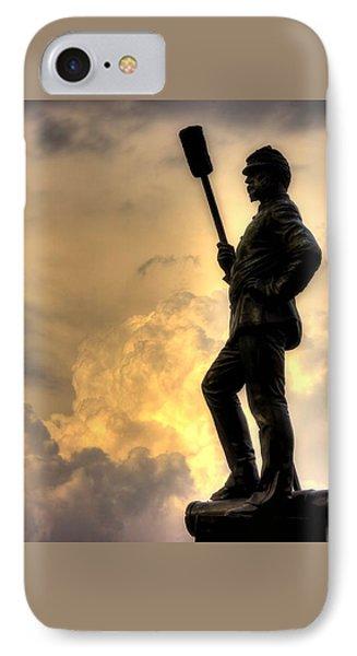 War Thunder - The Clouds Of War - 4th New York Independent Battery Near Devils Den Gettysburg Phone Case by Michael Mazaika