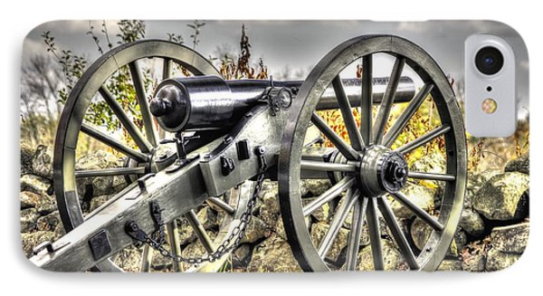 IPhone Case featuring the photograph War Thunder - The Letcher Artillery Brander's Battery West Confederate Ave Gettysburg by Michael Mazaika