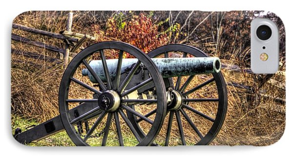 IPhone Case featuring the photograph War Thunder - The Morris Artillery Page's Battery Oak Hill Gettysburg by Michael Mazaika