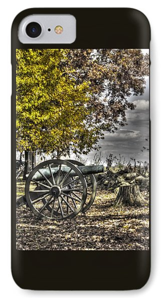 IPhone Case featuring the photograph War Thunder - The Purcell Artillery Mc Graw's Battery-a2 West Confederate Ave Gettysburg by Michael Mazaika