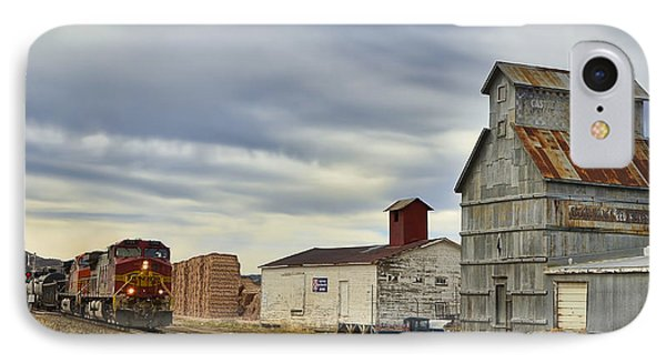 Warbonnet Passing The Grain Elevator Phone Case by Ken Smith