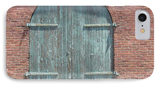Warehouse Door IPhone Case by Bonnie Muir