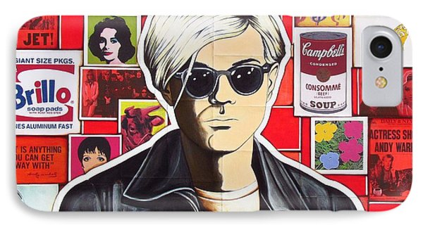 IPhone Case featuring the mixed media Warhol by Joseph Sonday