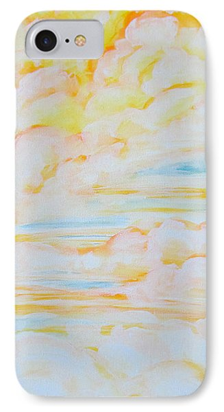 Warm Clouds IPhone Case by Heather  Hiland