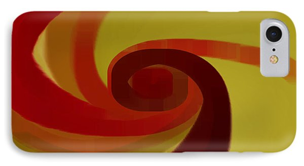 Warm Swirl Phone Case by Ben and Raisa Gertsberg