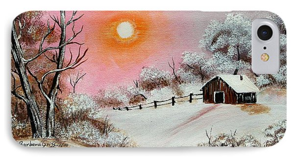 Warm Winter Day After Bob Ross IPhone Case by Barbara Griffin