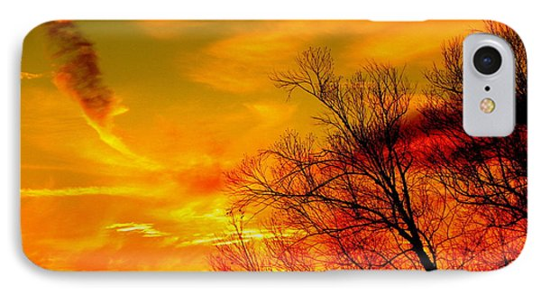 Warm Winter Sunset  Phone Case by Walter  Holland