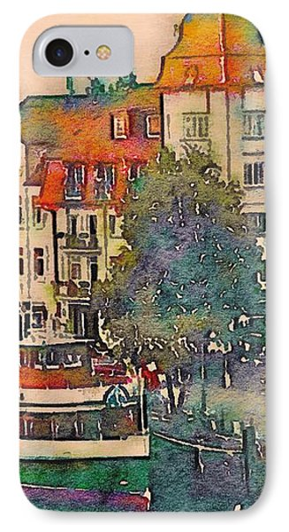 Warnemunde In Watercolor IPhone Case by Susan Maxwell Schmidt