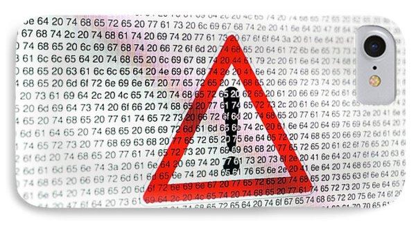 Warning Sign And Hexadecimal Code IPhone Case by Daniel Sambraus