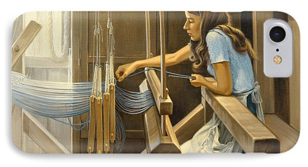 Warping The Loom  Phone Case by Paul Krapf