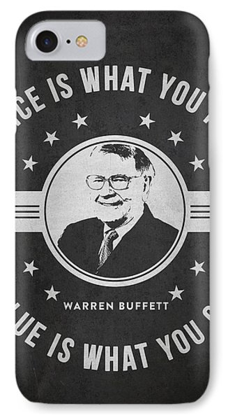 Warren Buffet - Charcoal IPhone Case by Aged Pixel