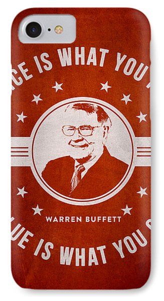 Warren Buffet - Red IPhone Case by Aged Pixel