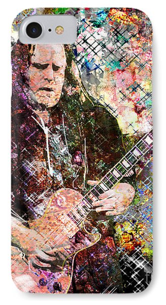 Warren Haynes Govt Mule Original Painting Art Print IPhone Case by Ryan Rock Artist