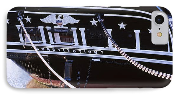 Warship Moored At A Harbor, Uss IPhone Case