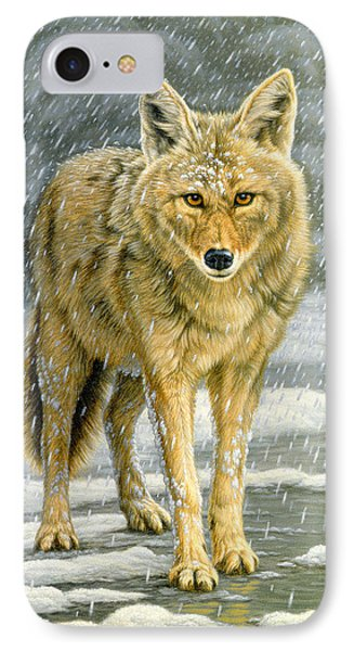 Wary Approach - Coyote Phone Case by Paul Krapf