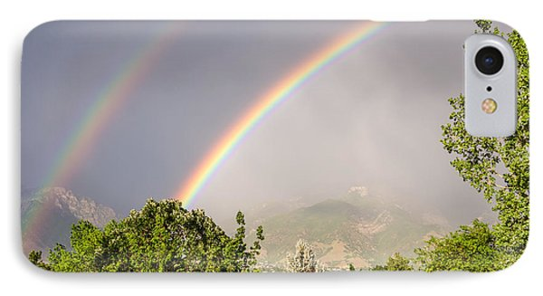 Wasatch Rainbow IPhone Case by Sue Smith
