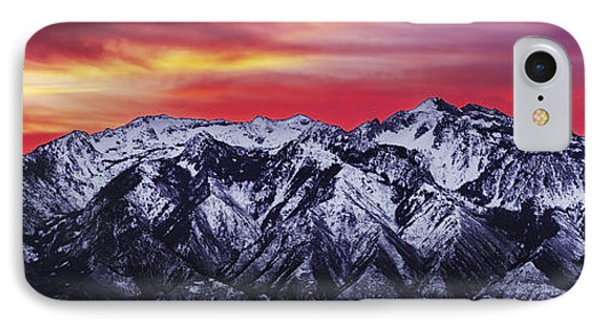 Wasatch Sunrise 3x1 IPhone Case by Chad Dutson