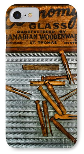 Washboard And Clothes Pins IPhone Case by Paul Ward
