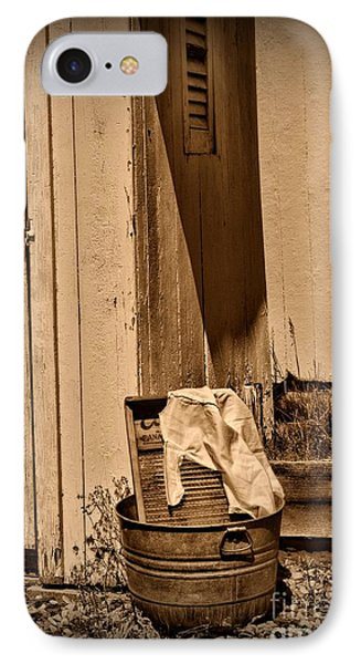 Washboard By The Outhouse IPhone Case by Paul Ward