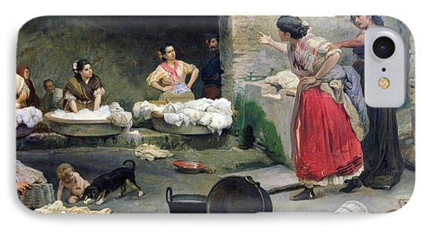 Washerwomen Disputing Phone Case by Jose-Jimenes Aranda