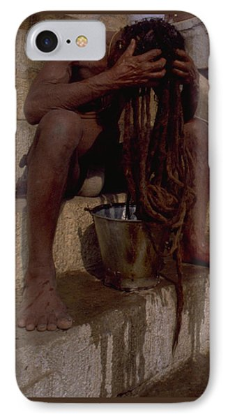 Varanasi Hair Wash IPhone Case by Travel Pics