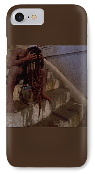 IPhone 7 Case featuring the photograph Varanasi Hair Wash by Travel Pics