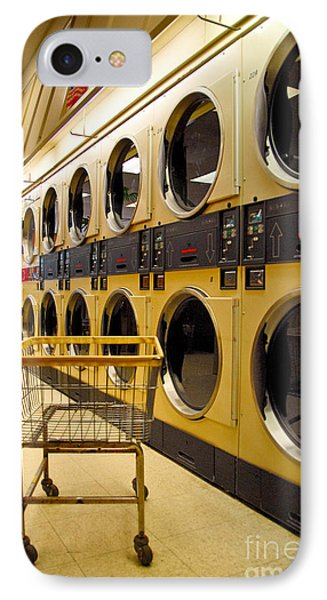 Washing Machines At Laundromat Phone Case by Amy Cicconi