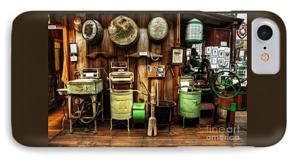 Washing Machines Of Yesteryear IPhone Case by Kaye Menner