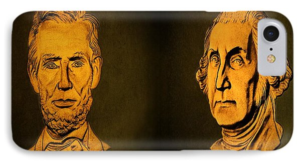 Washington And Lincoln Phone Case by David Dehner