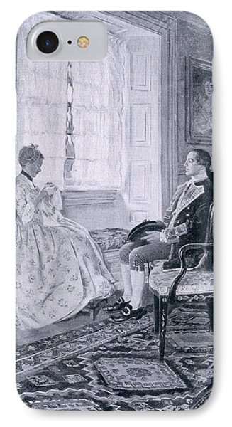 Washington And Mary Philipse, Illustration From Colonel Washington By Woodrow Wilson, Pub IPhone Case by Howard Pyle