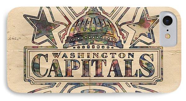 Washington Capitals Hockey Poster IPhone Case