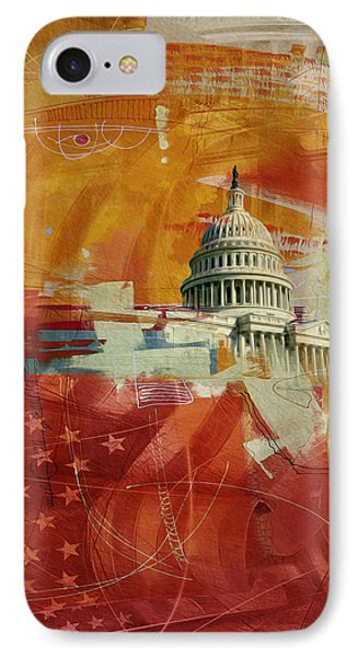Washington City Collage 4 IPhone Case