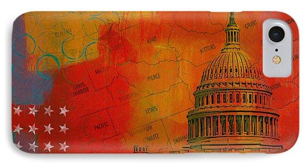 Washington City Collage Alternative Phone Case by Corporate Art Task Force