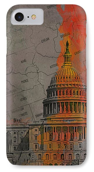Washington City Collage Phone Case by Corporate Art Task Force