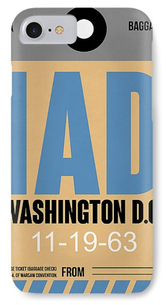 Washington D.c. Airport Poster 3 IPhone Case by Naxart Studio