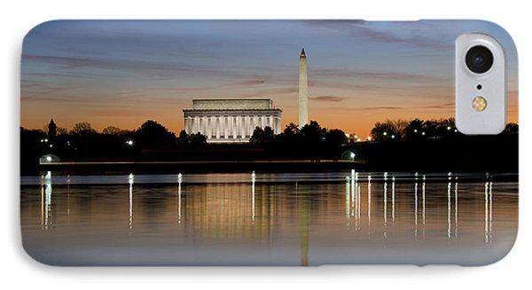 Washington Dc - Lincoln Memorial And Washington Monument IPhone Case