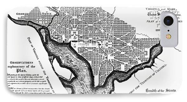 Washington, D.c. Plan, 1792 Phone Case by Granger