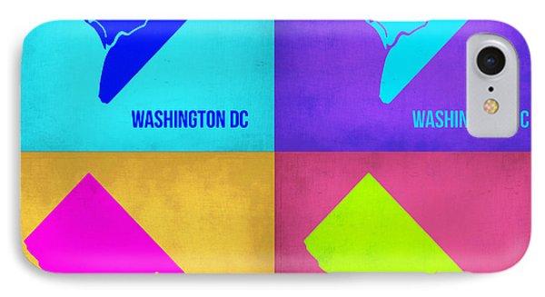 Washington Dc Pop Art Map 1 IPhone Case by Naxart Studio