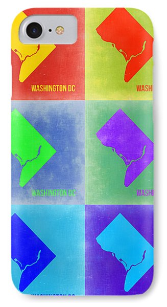Washington Dc Pop Art Map 3 Phone Case by Naxart Studio