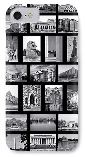 Washington Dc Poster IPhone 7 Case by Olivier Le Queinec