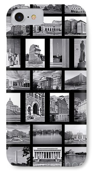 Washington Dc Poster Phone Case by Olivier Le Queinec