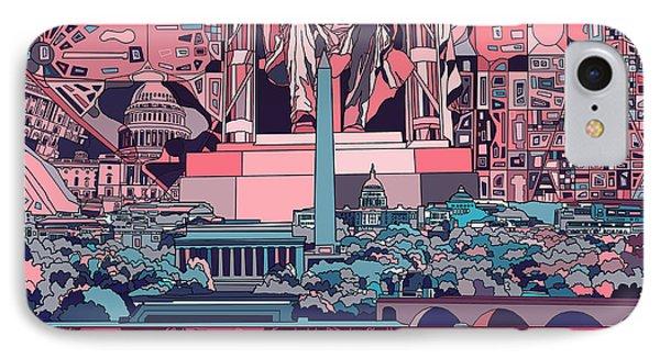 Washington Dc Skyline Abstract 2 IPhone 7 Case