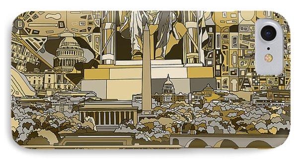Washington Dc Skyline Abstract 4 IPhone Case