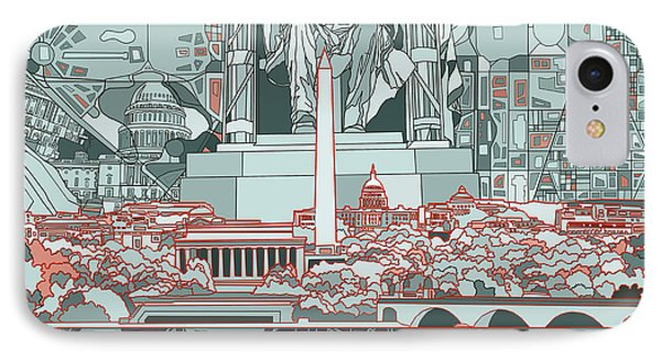 Washington Dc Skyline Abstract IPhone 7 Case