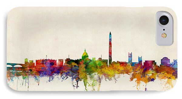 Washington Dc Skyline IPhone Case by Michael Tompsett