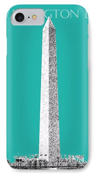 Washington Dc Skyline Washington Monument - Teal IPhone 7 Case