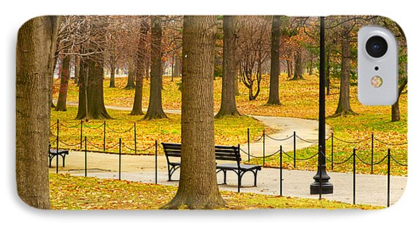 Washington Dc's Memorial Parks In The Winter IPhone Case by MaryJane Armstrong